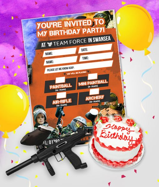 Birthday Parties Archives Teamforce Paintball In Swansea South - Childrens birthday party ideas llanelli