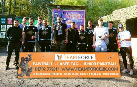 Swansea City Football Club enjoying an exciting, action-packed day at Teamforce